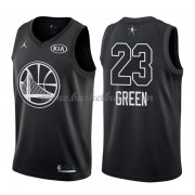 Golden State Warriors Draymond Green 23# Svart 2018 All Star Game NBA Basketlinne..